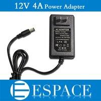 100 шт./лот Новый 12 В 4A 48 Вт питания переменного тока 100 240 В к DC адаптер для 5050 3528 Светодиодные полосы с нами/ЕС Plug Бесплатная DHL