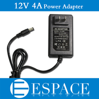 100pcs/lot New 12V 4A 48W Power Supply AC 100 240V To DC Adapter For 5050 3528 Led Strips with US/EU plug free DHL