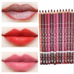 1Pcs Cosmetic Professional Wood Lipliner Waterproof Lady Charming Lip Liner Soft Pencil Contour Makeup Lipstick Tool Dropship