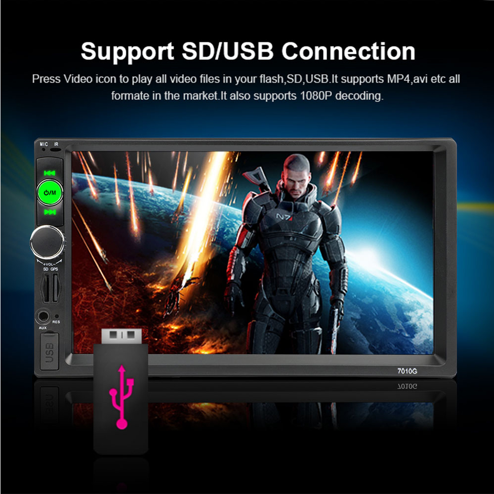 Podofo 2 din Car Radio 7 GPS Navigation audio Radio Bluetooth Autoradio MP5 Player Multimedia USB SD Multimedia Rear View Camera (3)