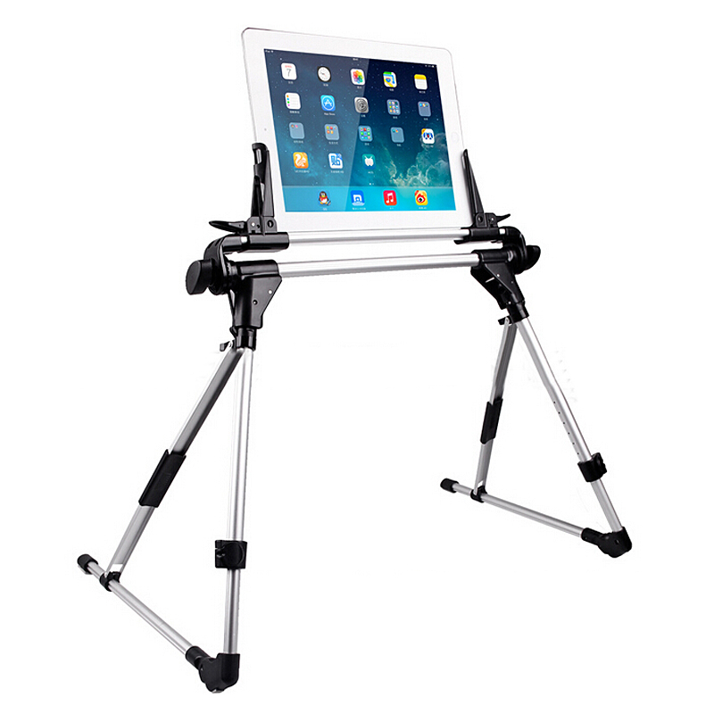 New Universal Portable Tablet Bed Frame Holder Stand for iPad 1 2 3 4 5 air iPhone Samsung Galaxy Tablet PC Stands portable 5 level abs stand holder for ipad 2 ipod touch 4 iphone 3g 4 purple