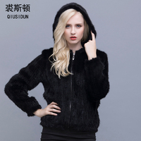 2016 Ms Selling Real Mink Fur Clothes Wool Woven Fur Coats Hooded Thickening Bigger Sizes Fashion