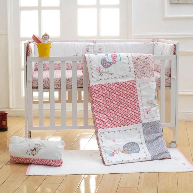 2ff0104ea Best buy i baby Newborn Baby Infant Crib Bedding set 6pcs Dream Land 100%  Cotton Printed Sheet Duvet Pillow Bumper Cot Sets in Crib online cheap