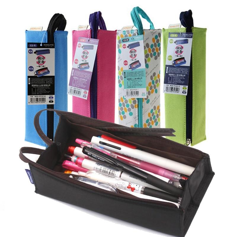 kokuyo caneta caixa de lapis caneta saco do lapis de alta qualidade grande saco caneta capacidade