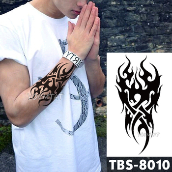 Waterproof Temporary Tattoo men's fire tatoo eagle lotus Mandala eye flame totem 12*19cm Water Transfer Fake tatto for man