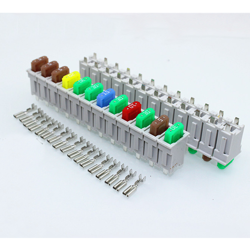 3 Sets 12 Way Multi Channel Small Size ATO Blade Fuse Box Block Holder For  Car Truck Auto With Fuses Terminals-in Fuses from Home Improvement on ...
