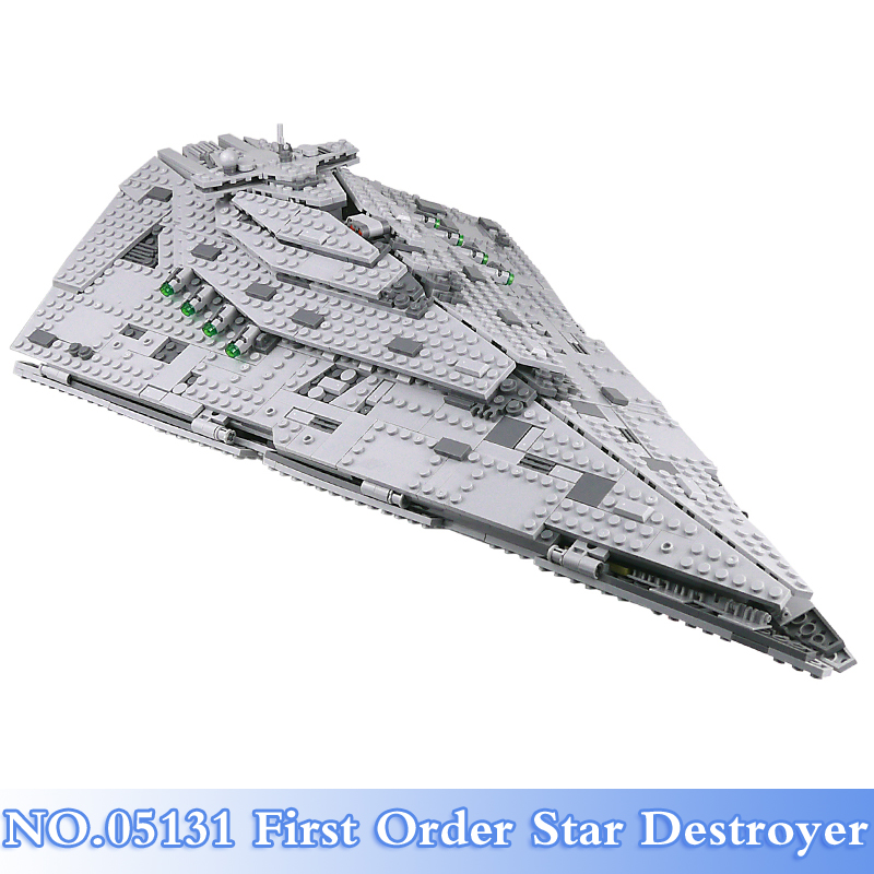 Lepin 05131 Star War 1585Pcs First Order Star Destroyer Figures Building Blocks Bricks Sets Toy Gift Model Kits Compatible 75190 a toy a dream lepin 15008 2462pcs city street creator green grocer model building kits blocks bricks compatible 10185