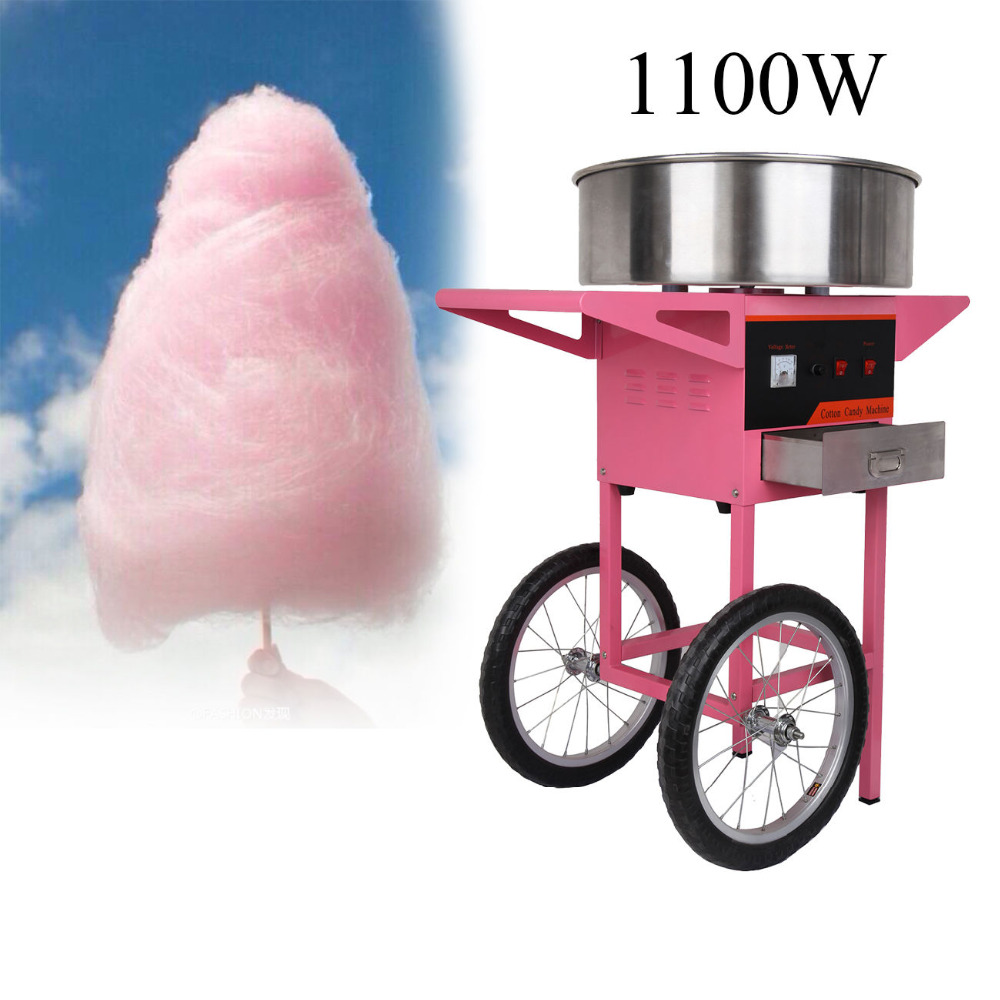 Electric Cotton Candy Machine Candy Floss Maker with with Cart electric cotton candy machine cotton floss machine