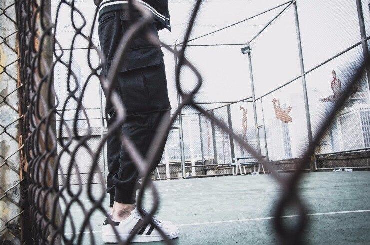 HIPFANDI 2017 Mens jumpsuit Clothing sweatpants black/grey wool sweats winter harem cargo dress pants Men joggers pants S-4XL