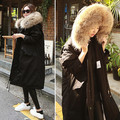 Down jacket parka coat 2017 girl spring winter outwear long with hood real raccon fur collar overcoat for woman