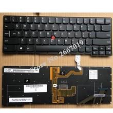 แป้นพิมพ์แล็ปท็อปภาษาอังกฤษใหม่พร้อม backlit สำหรับ Lenovo สำหรับ ThinkPad X1C 2014X1 สำหรับ Carbon Gen 2 ประเภท 20A7 20A8 US