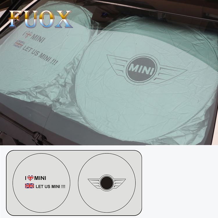 Car Sunshade Sun shade Front Rear For MINI Cooper One S R50 R53 R56 R60 F55 F56 R58 R59 For Mini Logo Other 3D Car Stickers