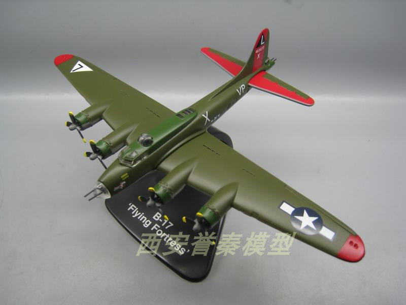 ATLAS 1/144 Scale USAF B-17 Flying Fortress Bomber Diecast Metal Military Plane Model Toy For Collection,Gift,Kids