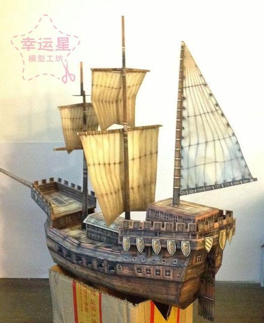 Bricolage manuel de papier 3D modèle de navire à voile Clark à lère de la grande Navigation au 15th siècle