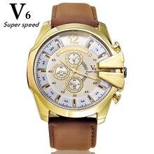 V6 Chaude haute qualité classique styles hommes et femmes montre de mode Collocation grand cadran quartz marque montres véritable bracelet en cuir