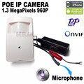 960 P POE ip mini câmera ONVIF Ip Estilo Pir Câmera Secreta PIR Câmera IP para 3.7mm lente de Segurança P2P Sem Fio Do Telefone Móvel câmera