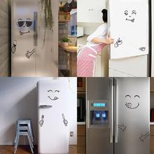 Refrigerator stickers funny little refrigerator cabinet door personalized creative kitchen wall