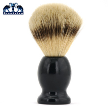 Grandslam, щетка для бритья, 18 мм, чистый барсук, щетка для бритья, черная деревянная ручка, спроектированная для лучшего бритья, лезвие, безопасная бритва