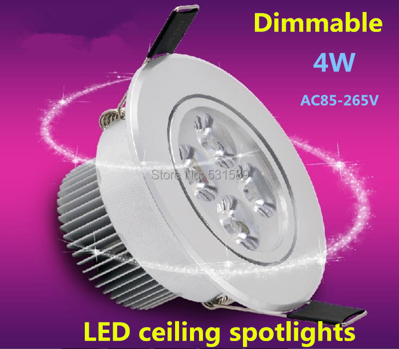 20PCS Dimmable 4*1W 4W high power LED ceiling light / cabinet light led lighting / led ceiling spotlight