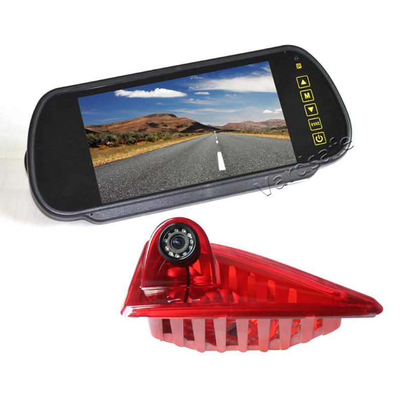 Vardsafe | caméra de recul de feux de freinage + moniteur miroir clipsable de 7 pouces pour Renault Master/Opel Vauxhall Movano (2010-2019)