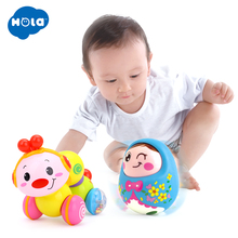 Cute Baby Rattles Chick Tumbler Doll Toys Sweet Bell Music Light poly Learning Education Gifts