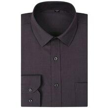 Плюс Размеры 8XL 7XL 6XL Для мужчин платье рубашка сплошной Цветные черные и белые синий, серый CHEMISE Homme мужской Бизнес Повседневное футболки с длинными рукавами