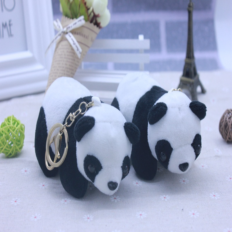 1 Stück 12 Cm Mode 3d Plüsch Panda Schlüsselbund Niedlichen Tier Panda Schlüsselanhänger Für Frauen Männer Handtasche Zubehör 100% Original Sammeln & Seltenes Stofftiere & Plüsch