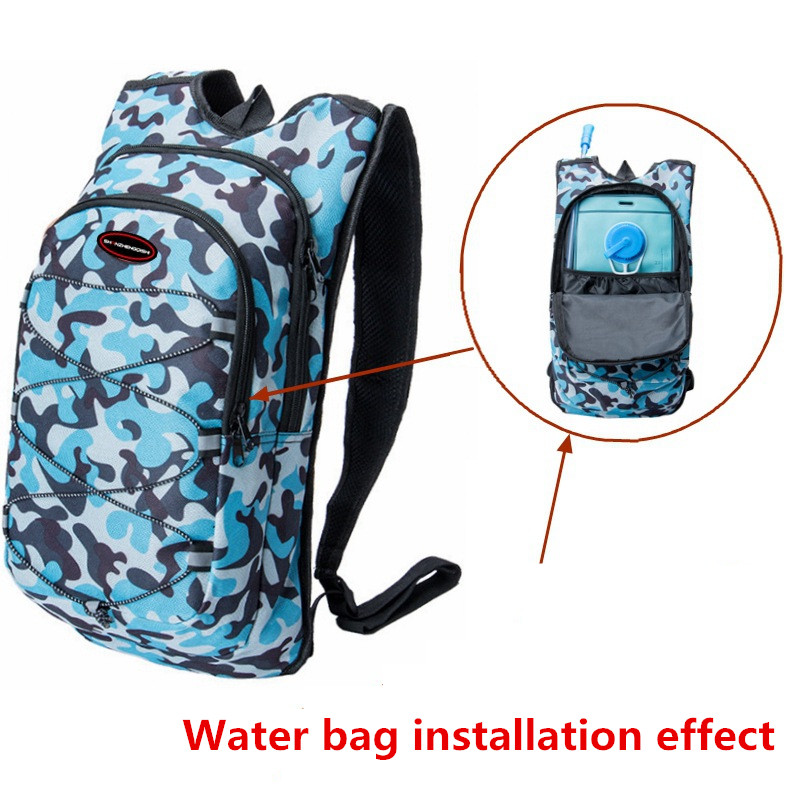12l Camouflage Camelback Water Bag Hydration Backpack Outdoor Camping Hiking Riding Camel Bags 2l Water Bladder Pack Soft Flask