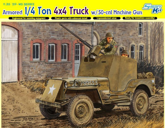 Dragon model 6714 1 35 scale Armored 1 4 Ton 4x4 Truck w 50 cal Machine