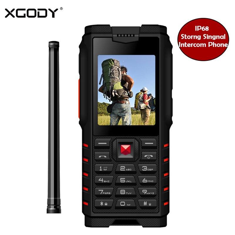 XGODY ioutdoor T2 Fonction Antichoc Téléphone ip68 talkie-Walkie Interphone 4500 mAh batterie externe 2.4 Pouces 2G GSM smartphone débloqué