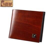 Pabojoe Mens Genuine Leather Wallts Mens Casual Business Credit Cards Money Holder