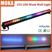 4 יח'\חבילה שלב וול אור לשטוף חיצוני led וול שטפי אור dmx 512 6 chs IP65 LED בר אפקט תאורת במה אור אין רעש-באפקטי תאורה לבמה מתוך פנסים ותאורה באתר