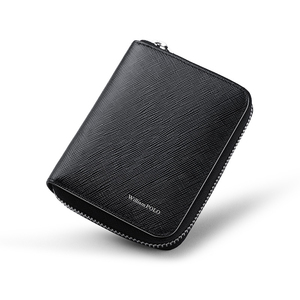 Image 3 - WILLIAMPOLO Fashion  100% Leather Zipper Small Wallet Portefeuille Homme Mini Wallet PL171320