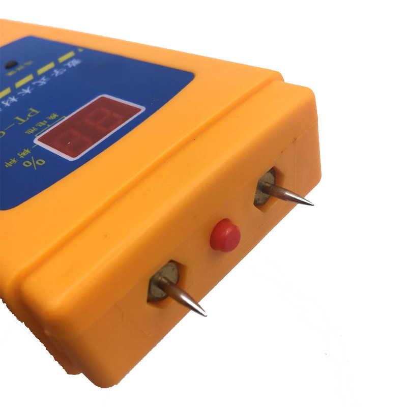 Medidor de humedad de madera portátil PT-90D higrómetro madera densidad de árbol LED Digital herramienta de medición eléctrica