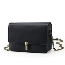 Chain Strap Women Sweet Style Designer Shoulder Bag Retro Trendy Mini Messenger Bag Ladies Japan Style Concise PU Crossbody Bag
