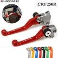 Красный CNC поворотный тормозной клатч рычаги для Honda CRF250R CRF450R CRF 250R 450R 2007 2008 2009 2010 2011 2012 2013 2014 2015 2016