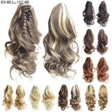 [DELICE] 16 inches Womens High Temperature Fiber Synthetic Hair Curly Ponytail Piano Color 90g/piece