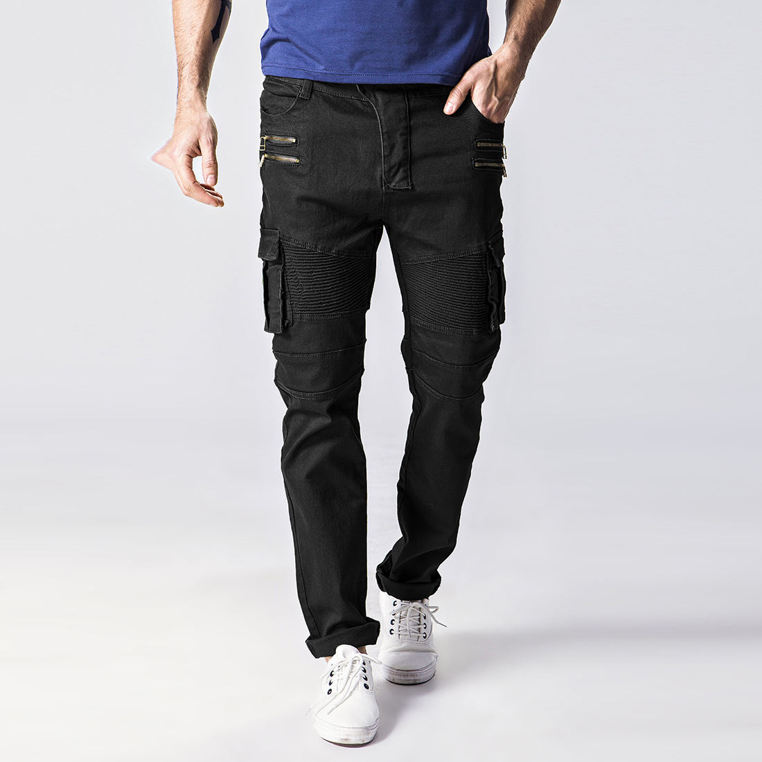 Men Jeans Brand Casual Thin Summer Straight Slim Jeans Stretch Denim Pants Trousers Classic Cowboys Young Man Streetwear