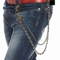 2016 New Fashionable Man Metal Rock Pentagram 3D Black Spider Hip Hop Jeans Chain Punk Bronze Wallet Chain Free King Series J74