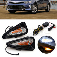 For TOYOTA CAMRY 2015 Car Special LED Daytime Running Light With Turn Signal Yellow DRL D15