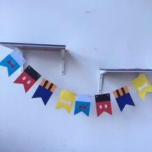 Вечерние wakaka Дональд Дак Микки 3 метра картонный заголовок с флажками флаг День Рождения украшения Бантинг поставка ткани