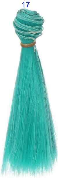 1 stks haar refires bjd haar 15 cm * 100 CM blauw groen paars kleur korte rechte pruik haar voor 1/3 1/4 BJD diy