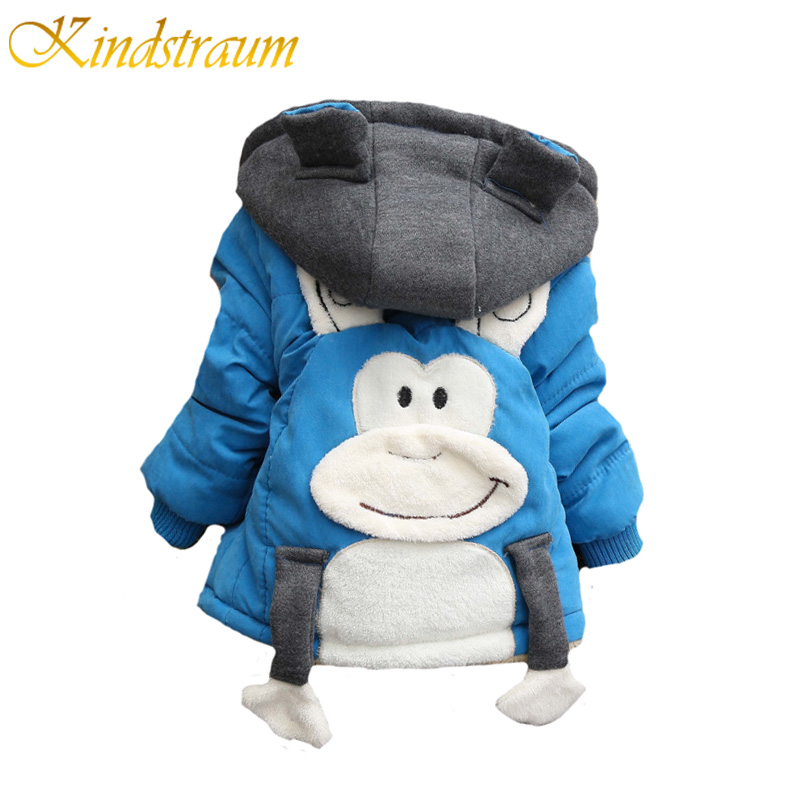Kindstraum Baby Boys Winter Cotton Jacket Kids Hooded Warm Coat Character Cute Toddler Boys Thick Children Outwear, MC752 kindstraum 2017 fashion kids winter jacket cotton new boys girls warm hooded coat children casual dinosaur outwear printed mc802