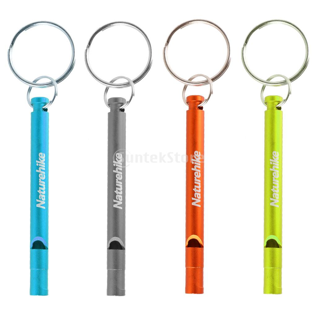 Aluminum Alloy Outdoor Emergency Survival Camping Hiking Safety Rescue First Aid Keychain Whistle Train Whistle