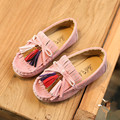 2017 Весна девушки кроссовки flat shoes для девочек одиночные shoes конфеты цвет кисточкой dance shoes for girls