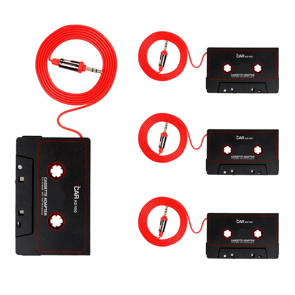 Audio Car Cassette Tape Adapter Converter 3 5 MM For Phone MP3 AUX CD in Car Cassette Player from Automobiles Motorcycles