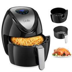 GBlife 1500W Multi-Functional Digital Electric Air Fryer For Frying Grilling Roasting 7 Quick Menus KAF1500P - D2 Deep Fryer