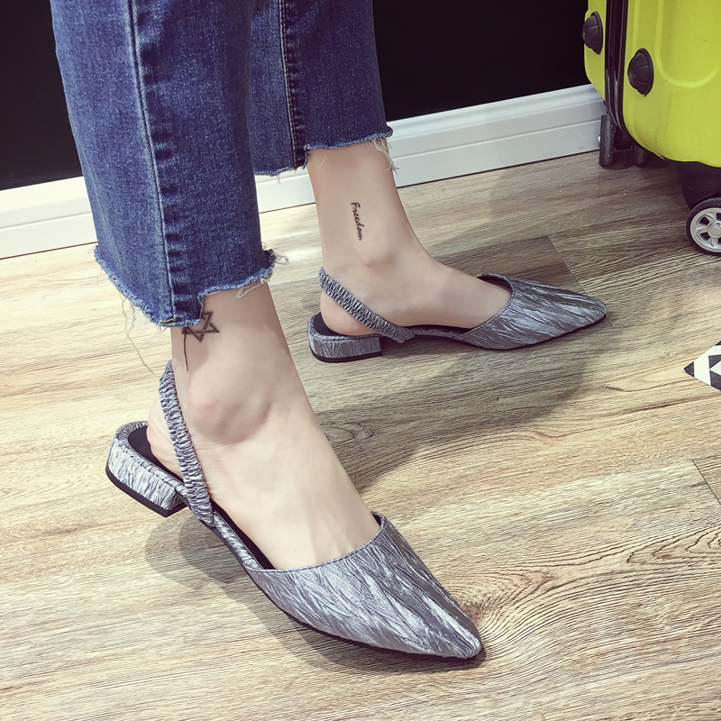 EOEODOIT Spring Summer Flats Shoes Low Heel Pointed Toe Women Sandals Slippers Shallow Mouth Casual Female Shoes 2.5 CM Heel 2018 spring summer low heel sandals pointed toe shallow mouth women shoes woman cozy casual shoes leisure single ladies shoes cy