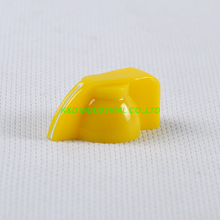10pcs Colorful Rotary Volume Yellow Control Vintage Plastic Knob 32x14mm for 6.35mm Shaft