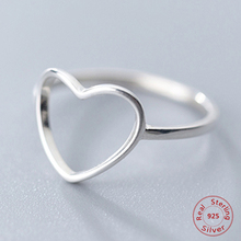 New Classic Genuine 925 Sterling Silver Hollow Heart Ring Love Wedding Bands Ring for Women Girl Fashion Jewelry Gift Party Ring cheap Rings Metal Anniversary ROUND XTR2269 None 12mm All Compatible Romad Lead nickel free Shipping to worldwide Free dropshipping